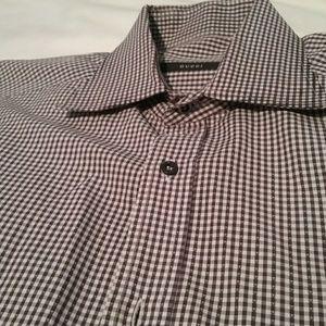 Gucci plaid mens dress shirt